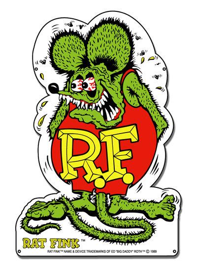 RAT FINK HEAVY STEEL SIGN 34
