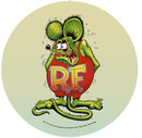 RAT FINK LARGE ROUND HEAVY STEEL SIGN 22