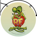 RAT FINK DOUBLE SIDED WALL BRACKET SIGN 22