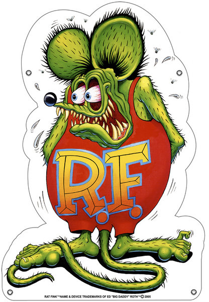 RAT FINK HEAVY STEEL SIGN 18