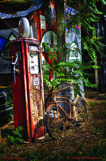 OLD GAS PUMPS BICYCLE METAL SIGN 17