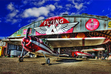 FLYING A HANGER METAL SIGN 17