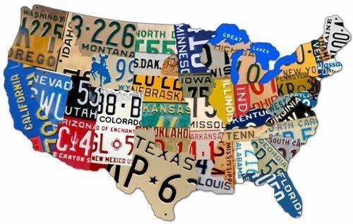 LICENSE PLATE USA Custom Metal Sign