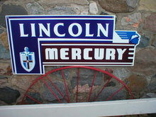 LINCOLN MERCURY HEAVY METAL SIGN 18