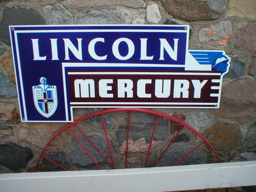 LINCOLN MERCURY HEAVY METAL SIGN 18