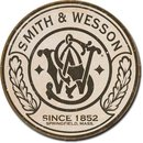 SMITH & WESSON SINCE 1852 ROUND METAL SIGN