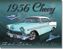 1956 CHEVROLET BELAIR 2 DOOR HARDTOP METAL SIGN