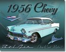 1956 CHEVROLET BELAIR 2 DOOR HARDTOP METAL SIGN