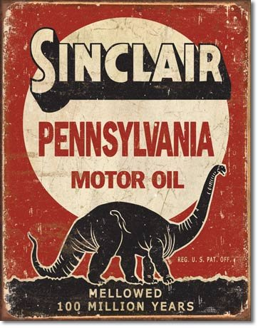 SINCLAIR PENNSYVANIA MOTOR OIL METAL SIGN