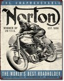 NORTON WINNING MOTORCYCLE 1898 METAL SIGN