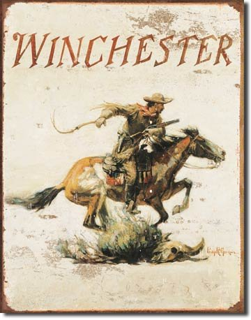 WINCHESTER LOGO METAL SIGN
