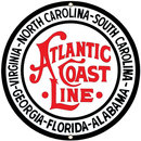Atlantic Coast Line Porcelain Enamel Steel Sign