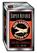 AERO EASTERN MOTOR OIL CAN CUSTOM SHAPE SQUARE CONTAINER METAL SIGN P