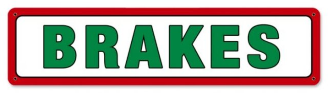 TEXACO BRAKES RETRO METAL SIGN P
