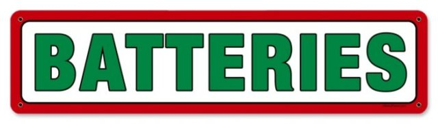 TEXACO BATTERIES RETRO METAL SIGN P