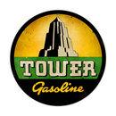 TOWER GASOLINE ROUND METAL SIGN