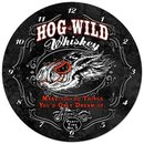 HOG WILD Metal Clock
