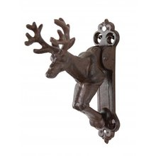 RUSTIC DEER DOOR KNOCKER CAST IRON
