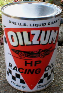 OILZUM HP RACING OIL CAN NEW EMPTY