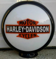 HARLEY MOTORCYCLE GAS PUMP GLOBE SIGN
