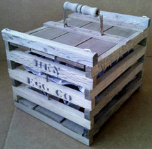 SMALL WOODEN HEN EGG COMPANY CRATE