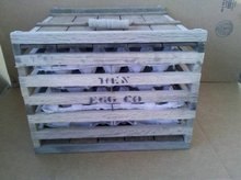 LARGE WOODEN HEN EGG COMPANY CRATE