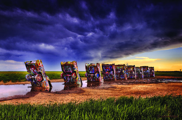 CADILLAC RANCH METAL SIGN