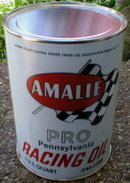AMALIE RACING OIL CAN NEW EMPTY PAPER LABEL