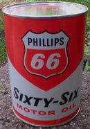 PHILLIPS 66 MOTOR OIL CAN NEW EMPTY
