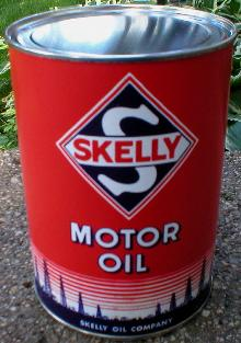 SKELLY MOTOR OIL CAN NEW EMPTY PAPER LABEL