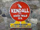 KENDALL UNSURPASSED 2000 MILE OIL HEAVY METAL SIGN