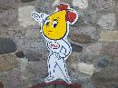 ESSO OIL DROP GIRL HEAVY STEEL SIGN NEW ONE SIDED