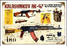 KALASHNIKOV AK-47 HEAVY METAL SIGN