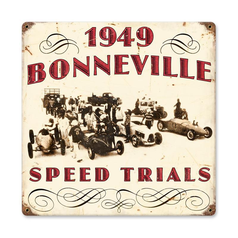1949 BONNEVILLE HEAVY METAL VINTAGE SIGN