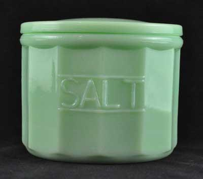 JADE JADITE JADEITE SALT CONTAINER WITH LID