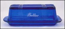 COBALT BLUE ONE STICK BUTTERDISH