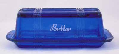 COBALT BLUE ONE STICK BUTTERDISH