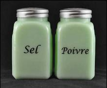 JADE ARCH FRENCH SALT PEPPER SET SEL POIVRE