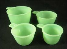 JADE JADITE JADEITE ONE SET MEASURING CUPS FOUR