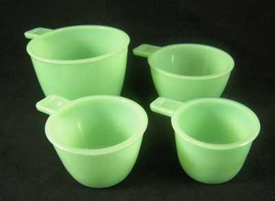 JADE JADITE JADEITE ONE SET MEASURING CUPS FOUR