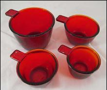 FOUR PIECE MEASURING CUP SET RED
