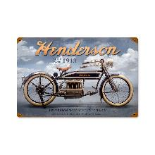 HENDERSON MOTORCYCLE 1913 HEAVY METAL SIGN