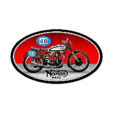 NORTON MANX OVAL METAL SIGN