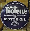 TIOLENE MOTOR OIL BIG RETRO METAL DOME SIGN 24