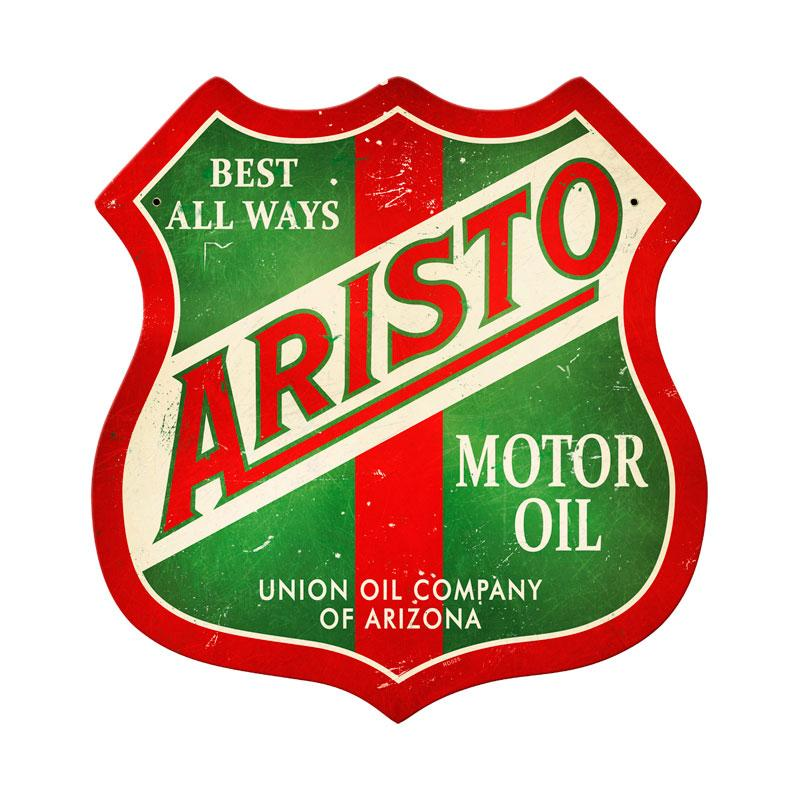 ARISTO MOTOR OIL RETRO METAL SIGN