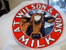 A. T. WILSON & SONS  PORCELAIN COAT SIGN