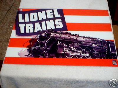 LIONEL TRAINS METAL TIN SIGN
