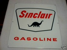 SINCLAIR PORCELAIN COATED GAS PUMP SIGN