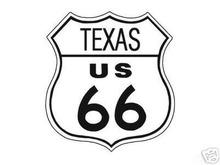 ROUTE 66 TEXAS SHIELD METAL ADV SIGN