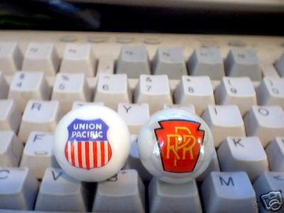 UNION PACIFIC PRR  GLASS LOGO MARBLES